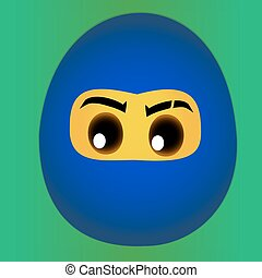 Ninja Egg Blue
