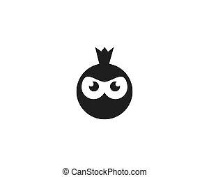 Ninja Face logo vector