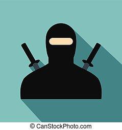 Ninja flat icon