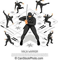 ninja, guerrero, cartel