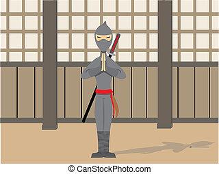 ninja, het poseren