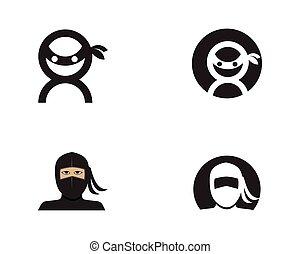 Ninja Icon Vector illustration