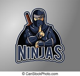 Ninja Illustration design badge