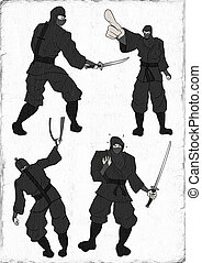 ninja, ilustrace