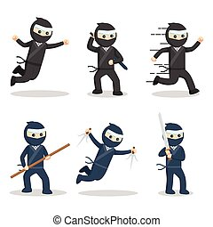ninja in action set