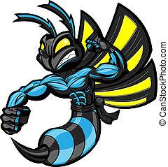 ninja, kämpfen, hornisse