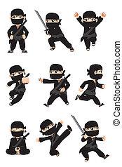 ninja, kölyök