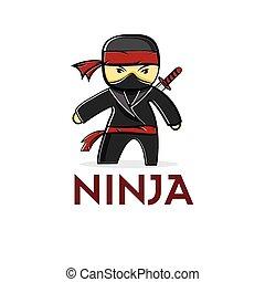 ninja, karikatúra