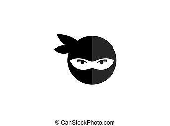 ninja, logo, vecteur