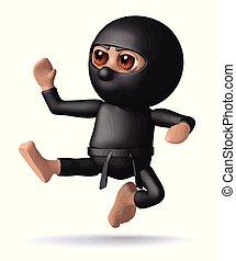 ninja, megrúg, 3