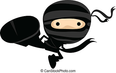 ninja, megrúg