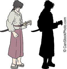 ninja, ombre