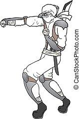 ninja, poinçon