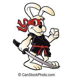 ninja rabbit cartoon