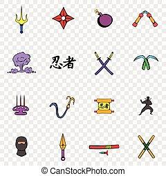 Ninja set icons