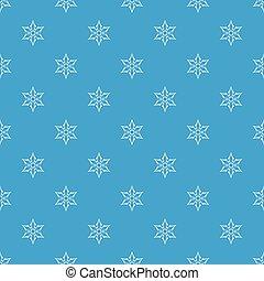 Ninja shuriken star weapon pattern seamless blue - Ninja...
