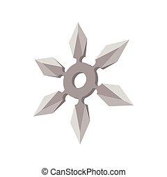 Ninja star cartoon icon