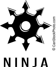 Ninja star simple vector icon isolated on white