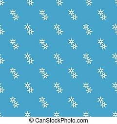Ninja stars pattern vector seamless blue