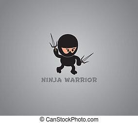 ninja, tema, carácter