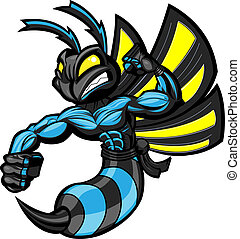 ninja, vecht, hornet