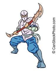 ninja, vechter, chinees