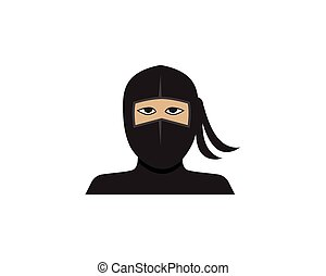 ninja, vector, illustratie, pictogram