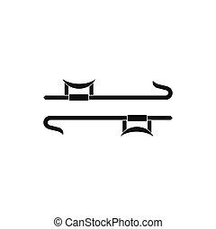 Ninja weapon black simple icon