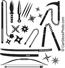 ninja weapon sets - suitable for user interface or...