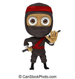 Ninja with decline pose