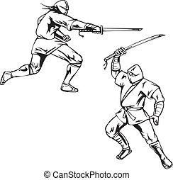 ninjas, deux