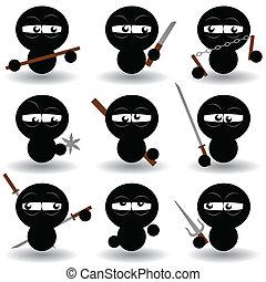 ninjas - vector set of ninjas