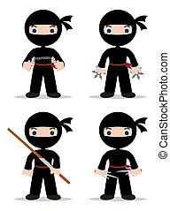 ninjas, sæt
