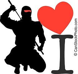 ninjutsu, amor, ninja