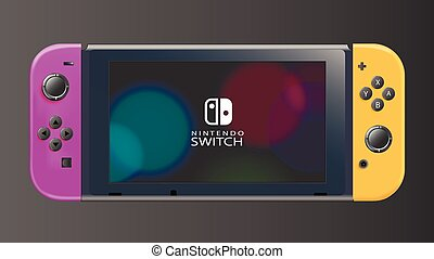 Nintendo Switch Vector purple