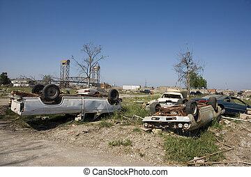 Ninth Ward Home - Heavily damaged homes in the Ninth Ward of...