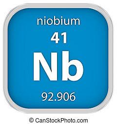 niobium, material, sinal
