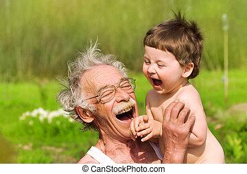 nipote, nonno