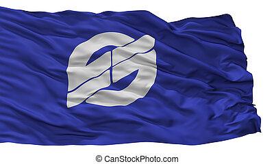 Nirasaki City Flag, Japan, Yamanashi Prefecture, Isolated On...