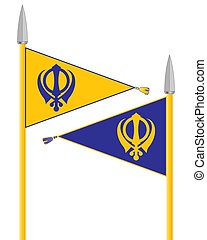 nishan sahib - an illustration of the nishan sahib the flag...