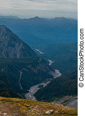 Nisqually River Flows Into the Valley