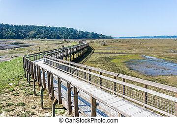 Nisqually Wetlands Mud Flats And Boardwalk 2