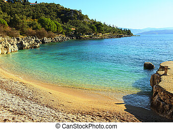 Nissaki beach, Corfu - The small but delightful beach at...