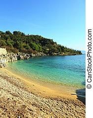 Nissaki beach, Corfu, vertical - The small but delightful...