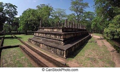 Nissanka Malla of Polonnaruwa, an Ancient Building Ruin in Sri Lanka