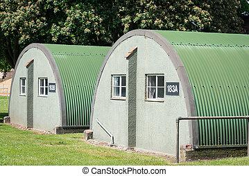 Nissen huts - British WW2 Nissen Huts.