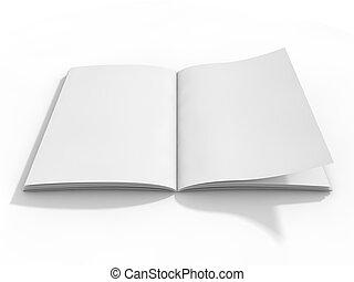 nit sida, eller, anteckningsblock, för, mockup, eller, simulations., 3