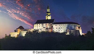 Nitra castle at night, Slovakia