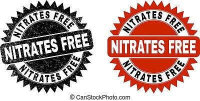nitrates, escarapela, estampilla, sello, grunge, libre, negro, superficie