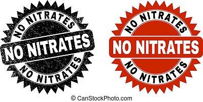 nitrates, escarapela, sello, corroído, negro, superficie, no
